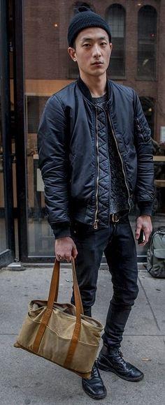 bomber jacket street style men - Google Search