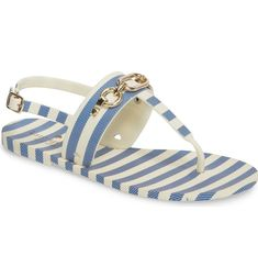 7edc85969a64 Gleaming chain hardware and a slingback strap add chic touches to an  essential thong sandal. The Polly Slingback Sandal from KATE SPADE NEW YORK.