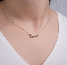 Tiny Name Necklace Dainty Name Necklace Mini Name Necklace