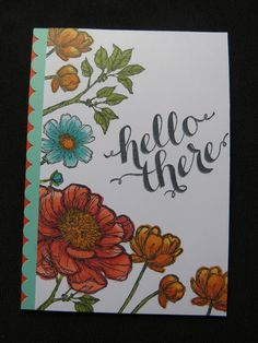 Stampin Up, Bloom with Hope, Blendabilities, Hello There, Scallop Border Punch  CASED