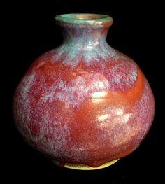 Harding Black 1972 Blue Chun on Porcelain Vase