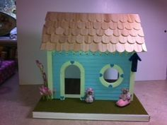 "Miniature ""Mouse House"" - Dollhouse Miniature 1:12 scale - Handcrafted OOAK!"