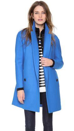 Best Winter Coats: The Electric Blue Coat Tibi oversize drop-shoulder coat with removable lining, $835, shopbop.com