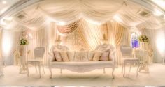 Post FeedsTired of search and search? Here we have this late White Wedding Stage Decoration to guide you in every date. surely you never thought to fi. Wedding Stage Decorations, Engagement Decorations, Backdrop Decorations, Backdrops, Desi Wedding, Elegant Wedding, Reception Backdrop, Reception Ideas, Asian Inspired Wedding