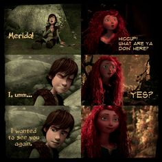 Merida and Hiccup (mericcup)