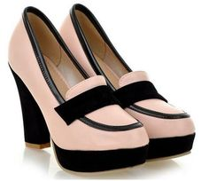 """Gender: Women Item Type: Pumps Shoe Width: Medium(B,M) With Platforms: Yes Closure Type: Slip-On Toe Shape: Pointed Toe Heel Height: High (3"""" and up) Decoration"""