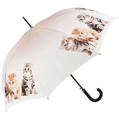 VON LILIENFELD Paraguas automático con tres gatitos