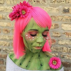 cute cactus Halloween costume, makeup + hair hair, makeup + paint by goldplaited cactus costume cactus makeup cactus facepaint The post cute cactus Halloween costume, makeup + hair hai… appeared first on Best Pins for Yours - Makeup Ideas Halloween 2018, Costume Halloween, Creepy Costumes, Halloween Makeup Looks, Cute Costumes, Facepaint Halloween, Creative Costumes, Costume Ideas, Diy Accessoires