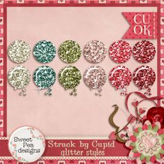 Struck by Cupid Glitter Styles