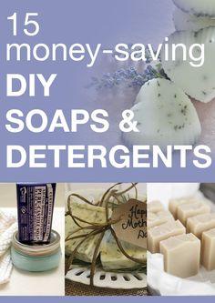 15 money-saving DIY soaps & detergents