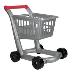 Deluxe Toy Shopping Cart by One Step Ahead. $34.95. The most authentic, contemporary, toy shopping cart we've found! Better yet, it's solid construction and smooth-riding wheels hold up to little shoppers' enthusiastic pushing, pulling, loading, and unloading. Bonus: the toy shopping basket removes for more pretend play options, whether playing store or playing house. For ages 3 and up. With its faux silver finish and red handle, it looks just like the shopping carts ...