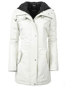 Canada Goose vest online store - Womens Removable Hoodie Faux Fur Lined leather Jacket. Color ...