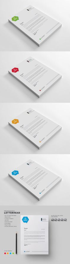 Professional Letterhead Templates Pleasing Professional Letterhead Templates #black  Landscape  Pinterest .