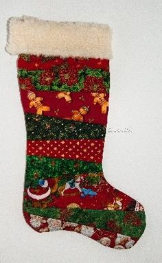 Handmade Quilted Christmas Stocking   Ginger Patch Crafts Holiday Fun, Christmas Ideas, Christmas Crafts, Xmas, Holiday Decor, Sewing Crafts, Sewing Projects, Quilted Christmas Stockings, Stocking Ideas