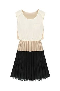 Color Contrast Dress / ROMWE