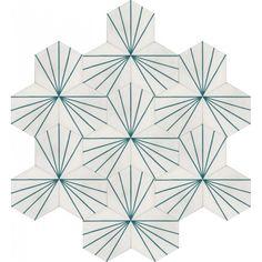 Moroccan Encaustic Cement Hexagonal Tile Artic-28-hex