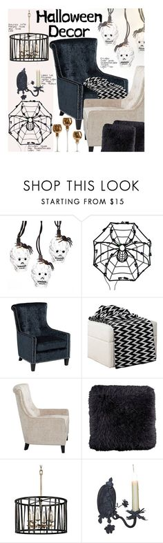 """Haunted House: Halloween Decor"" by beebeely-look ❤ liked on Polyvore featuring interior, interiors, interior design, home, home decor, interior decorating, Halloween, lampsplus and halloweendecor"