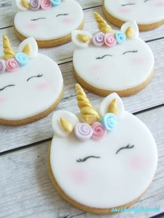 Ideas For Birthday Food Party Cupcake Unicorn Themed Birthday, Unicorn Party, Unicorn Wedding, Fondant Cookies, Sugar Cookies, Cupcake Party, Cupcake Cakes, Cupcakes Decorados, Unicorn Cookies