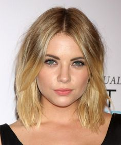 Ashley Benson Hairstyle - Medium Straight Casual - Dark Blonde