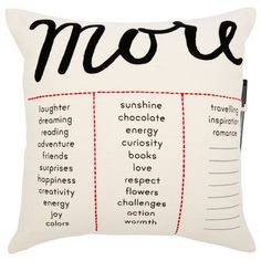 Expressions Pillow – More or Less Writable Cushion by Indigo | Decorative Pillows Gifts | chapters.indigo.ca