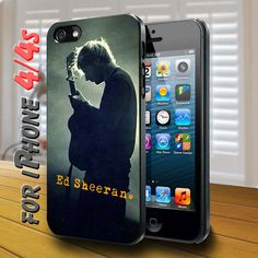 ed sheeran siluet Black Case for iphone 4...OH MY CARROTS!!!!!! <<< I swear to god if someone doesn't buy me this.