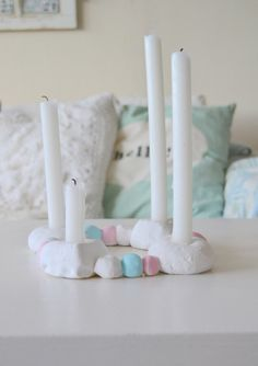Litehi: DIY Salt Dough Crafts, Christmas Candy, Little Houses, Happy Holidays, Candle Holders, Candles, Diy, Romantic, Home Decor