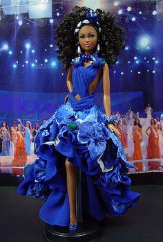 Barbie Miss US Virgin Islands Ninimomo 2009 Barbie Miss, Baby Barbie, Barbie Princess, Barbie And Ken, Barbie Style, Original Barbie Doll, Miss Pageant, Afro, Diva Dolls