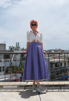 PLEATED SKIRT WITH  DECORATIVE PATTERN via tsouknida. Click on the image to see more!