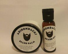 Adirondacks Beard Oil 1oz + Beard Balm 2oz - All  Natural, Alcohol free for Men #Adirondacks