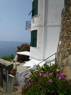 Riomaggiore, Liguria Italia (Luglio) Riomaggiore, Italia