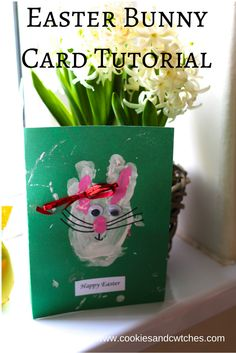 Cookies and Cwtches | Easter Bunny Kids Easter Card Tutorial | http://cookiesandcwtches.com