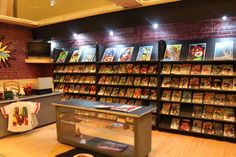 One-inch scale comic book store that I created. ~ Angie Hall