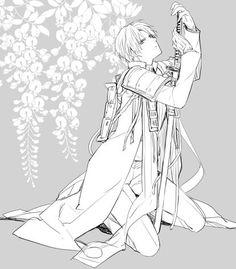 Heshikiri Hasebe From Tōken Ranbu. Manga Boy, Touken Ranbu, Anime Characters, Sword, Illustration, Comic, Fandoms, Sketch, Comic Strips