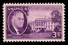 3 Cent Roosevelt White House Office Stamps Postage 3c Stamp