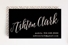 Name To Remember Business Cards by Hooray Creative at minted.com