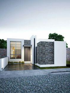 47 modern minimalist house design ideas for your 18 Facade Design, Exterior Design, Architecture Design, Modern Minimalist House, Small Modern Home, Luxury House Plans, Modern House Plans, Small House Design, Modern House Design