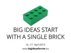 Big ideas start with a single brick - meet longtime CEO of LEGO, Christian Majgaard and more at www.bigideasforcee.eu