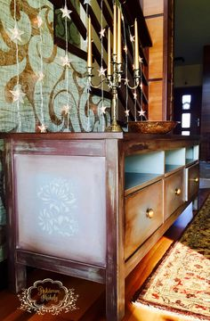 Christmas  Time with painted furniture :)  Annie Sloan chalk paint Coco, Duck Egg Blue, Old Ochre and mixed chocolate brown