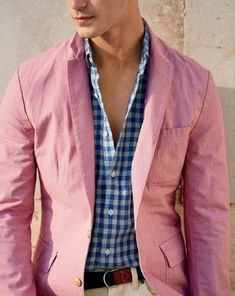 How to Wear a Pink Blazer (19 looks) | Men's Fashion