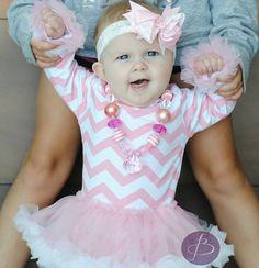 Trendy New Baby Chevron Pink Tutu OnesieHair by SweetAsAPeachKids