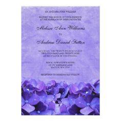 Shop Purple Hydrangea Wedding Invitations created by printcreekstudio. Lavender Wedding Invitations, Wedding Invitation Design, Bridal Shower Invitations, 70th Birthday Invitations, 70th Birthday Parties, Birthday Ideas, Birthday Celebration, Purple Hydrangea Wedding, Purple Hydrangeas