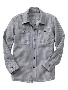 Stripe herringbone shirt