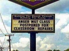 Anger Management Class Sign Fail