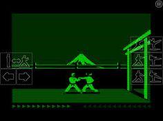 apple ii games black green screen - Google Search