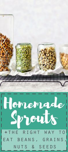 Soaking overnight before cooking is the right way to handle beans, grains, nuts and seeds and the perfect start to homemade sprouts!
