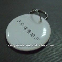 pvc non-standard original mf1 1k s50 chip card with keychain