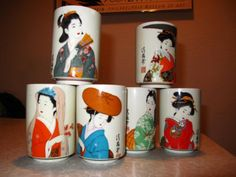 Vintage Japanese Drinking Glasses