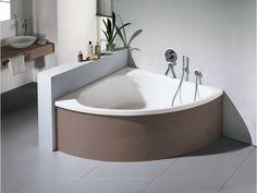 Come arredare un bagno piccolo vasca da bagno angolare mobile in