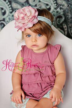 Pink Baby Headband..Baby Girl Headbands..Newborn Headband..Toddler Headband..Antique Pink Flower Headband..Baby Girl.Baby Headbands. $13.95, via Etsy.