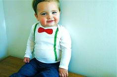 Baby First Christmas // First Christmas Boy Outfit // Baby Boy Christmas Bow Tie and Suspenders // Red and Green // Gift